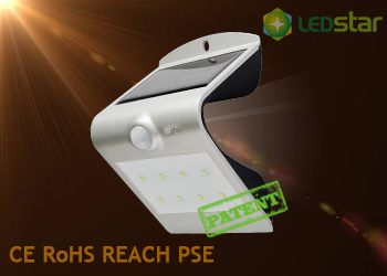 Solar LED Wall Light-1.5W Silver