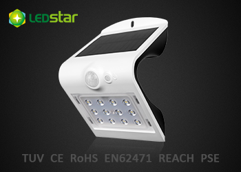 Solar LED Wall Light-1.5WPlus Butterfly-White